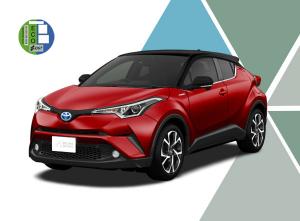 Imagen del renting Toyota C HR híbrido. Toyota c hr